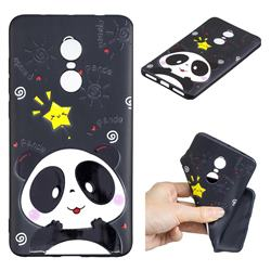 Cute Bear 3D Embossed Relief Black TPU Cell Phone Back Cover for Xiaomi Redmi Note 4 Red Mi Note4