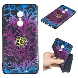 Colorful Lace 3D Embossed Relief Black TPU Cell Phone Back Cover for Xiaomi Redmi Note 4 Red Mi Note4
