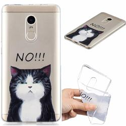 Cat Say No Clear Varnish Soft Phone Back Cover for Xiaomi Redmi Note 4 Red Mi Note4