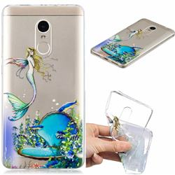 Mermaid Clear Varnish Soft Phone Back Cover for Xiaomi Redmi Note 4 Red Mi Note4