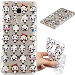 Mini Panda Clear Varnish Soft Phone Back Cover for Xiaomi Redmi Note 4 Red Mi Note4