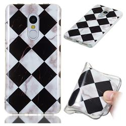 Black and White Matching Soft TPU Marble Pattern Phone Case for Xiaomi Redmi Note 4 Red Mi Note4