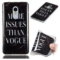 Stylish Black Soft TPU Marble Pattern Phone Case for Xiaomi Redmi Note 4 Red Mi Note4