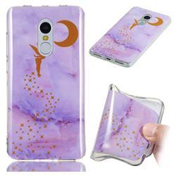Elf Purple Soft TPU Marble Pattern Phone Case for Xiaomi Redmi Note 4 Red Mi Note4