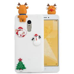 White Elk Christmas Xmax Soft 3D Silicone Case for Xiaomi Redmi Note 4 Red Mi Note4