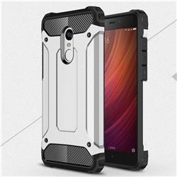 King Kong Armor Premium Shockproof Dual Layer Rugged Hard Cover for Xiaomi Redmi Note 4 Red Mi Note4 - Technology Silver