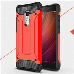 King Kong Armor Premium Shockproof Dual Layer Rugged Hard Cover for Xiaomi Redmi Note 4 Red Mi Note4 - Big Red