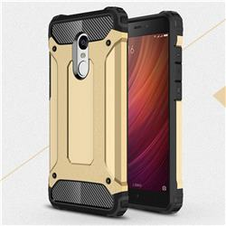 King Kong Armor Premium Shockproof Dual Layer Rugged Hard Cover for Xiaomi Redmi Note 4 Red Mi Note4 - Champagne Gold