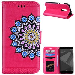 Datura Flowers Flash Powder Leather Wallet Holster Case for Xiaomi Redmi Note 4 Red Mi Note4 - Rose