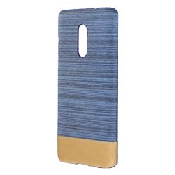 Canvas Cloth Coated Plastic Back Cover for Xiaomi Redmi Note 4 Red Mi Note4 - Light Blue