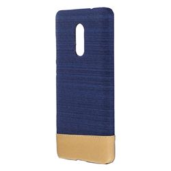 Canvas Cloth Coated Plastic Back Cover for Xiaomi Redmi Note 4 Red Mi Note4 - Dark Blue