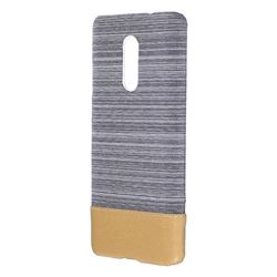 Canvas Cloth Coated Plastic Back Cover for Xiaomi Redmi Note 4 Red Mi Note4 - Light Grey