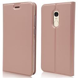 Ultra Slim Card Magnetic Automatic Suction Leather Wallet Case for Xiaomi Redmi Note 4 Red Mi Note4 - Rose Gold