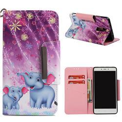 Fireworks Jumbo Big Metal Buckle PU Leather Wallet Phone Case for Xiaomi Redmi Note 4 Red Mi Note4