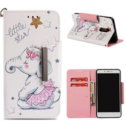 Skirt Jumbo Big Metal Buckle PU Leather Wallet Phone Case for Xiaomi Redmi Note 4 Red Mi Note4