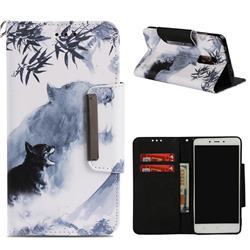 Target Tiger Big Metal Buckle PU Leather Wallet Phone Case for Xiaomi Redmi Note 4 Red Mi Note4
