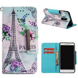 Fresh Tower Big Metal Buckle PU Leather Wallet Phone Case for Xiaomi Redmi Note 4 Red Mi Note4