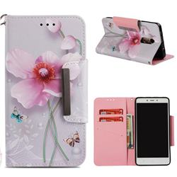 Pearl Flower Big Metal Buckle PU Leather Wallet Phone Case for Xiaomi Redmi Note 4 Red Mi Note4