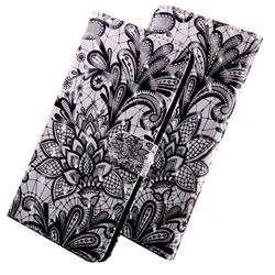 Black Lace Rose 3D Painted Leather Wallet Case for Xiaomi Redmi Note 4 Red Mi Note4