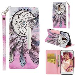 Angel Monternet Big Metal Buckle PU Leather Wallet Phone Case for Xiaomi Redmi Note 4 Red Mi Note4