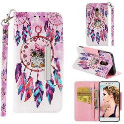 Owl Wind Chimes Big Metal Buckle PU Leather Wallet Phone Case for Xiaomi Redmi Note 4 Red Mi Note4