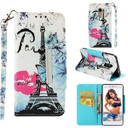 Lip Tower Big Metal Buckle PU Leather Wallet Phone Case for Xiaomi Redmi Note 4 Red Mi Note4