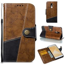 Retro Magnetic Stitching Wallet Flip Cover for Xiaomi Redmi Note 4 Red Mi Note4 - Brown