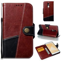 Retro Magnetic Stitching Wallet Flip Cover for Xiaomi Redmi Note 4 Red Mi Note4 - Dark Red