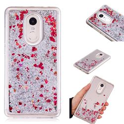 Glitter Sand Mirror Quicksand Dynamic Liquid Star TPU Case for Xiaomi Redmi Note 4X - Red