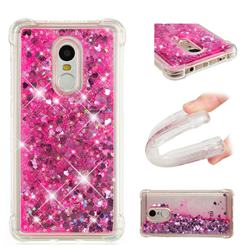 Dynamic Liquid Glitter Sand Quicksand TPU Case for Xiaomi Redmi Note 4X - Pink Love Heart