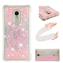 Dynamic Liquid Glitter Sand Quicksand TPU Case for Xiaomi Redmi Note 4X - Silver Powder Star