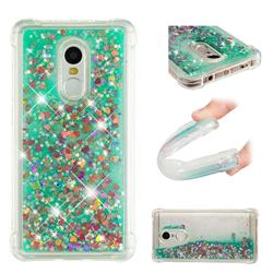Dynamic Liquid Glitter Sand Quicksand TPU Case for Xiaomi Redmi Note 4X - Green Love Heart