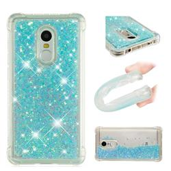 Dynamic Liquid Glitter Sand Quicksand TPU Case for Xiaomi Redmi Note 4X - Silver Blue Star