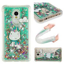 Tiny Unicorn Dynamic Liquid Glitter Sand Quicksand Star TPU Case for Xiaomi Redmi Note 4X