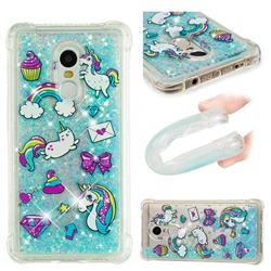 Fashion Unicorn Dynamic Liquid Glitter Sand Quicksand Star TPU Case for Xiaomi Redmi Note 4X