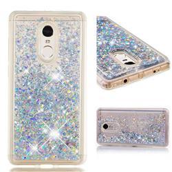 Dynamic Liquid Glitter Quicksand Sequins TPU Phone Case for Xiaomi Redmi Note 4X - Silver