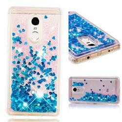 Dynamic Liquid Glitter Quicksand Sequins TPU Phone Case for Xiaomi Redmi Note 4X - Blue