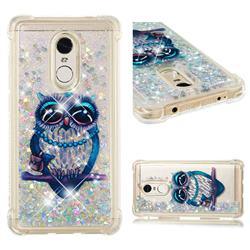 Sweet Gray Owl Dynamic Liquid Glitter Sand Quicksand Star TPU Case for Xiaomi Redmi Note 4X