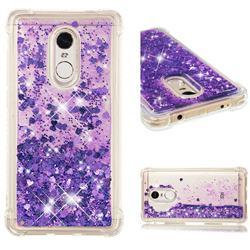 Dynamic Liquid Glitter Sand Quicksand Star TPU Case for Xiaomi Redmi Note 4X - Purple