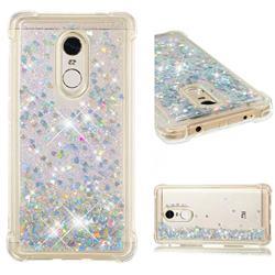 Dynamic Liquid Glitter Sand Quicksand Star TPU Case for Xiaomi Redmi Note 4X - Silver