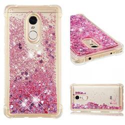 Dynamic Liquid Glitter Sand Quicksand Star TPU Case for Xiaomi Redmi Note 4X - Diamond Rose