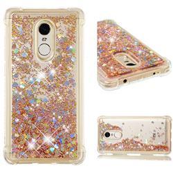 Dynamic Liquid Glitter Sand Quicksand Star TPU Case for Xiaomi Redmi Note 4X - Diamond Gold