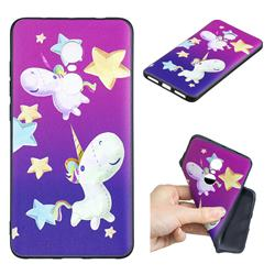 Pony 3D Embossed Relief Black TPU Cell Phone Back Cover for Xiaomi Redmi Note 4X