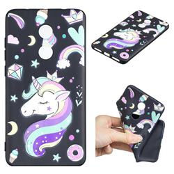 Candy Unicorn 3D Embossed Relief Black TPU Cell Phone Back Cover for Xiaomi Redmi Note 4X