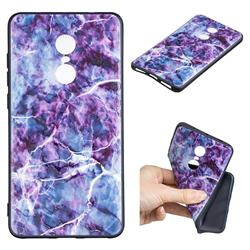 Marble 3D Embossed Relief Black TPU Cell Phone Back Cover for Xiaomi Redmi Note 4X