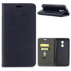 Tree Bark Pattern Automatic suction Leather Wallet Case for Xiaomi Redmi Note 4X - Black