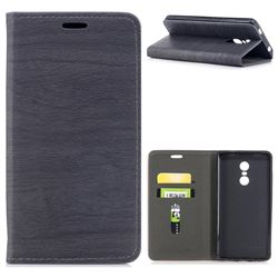 Tree Bark Pattern Automatic suction Leather Wallet Case for Xiaomi Redmi Note 4X - Gray