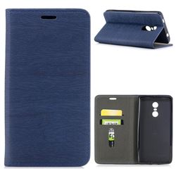 Tree Bark Pattern Automatic suction Leather Wallet Case for Xiaomi Redmi Note 4X - Blue