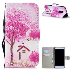 Tree House 3D Painted Leather Wallet Phone Case for Xiaomi Redmi Note 4X