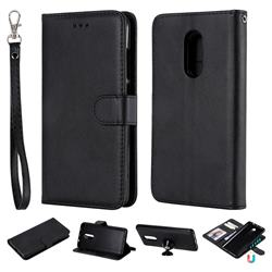 Retro Greek Detachable Magnetic PU Leather Wallet Phone Case for Xiaomi Redmi Note 4X - Black